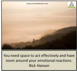 You need space to act effectively and have